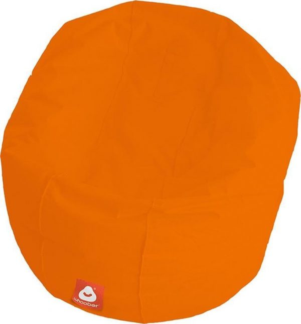 Whoober Ronde Zitzak Ibiza L outdoor oranje - Wasbaar - Geschikt voor buiten