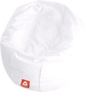 Whoober Ronde Zitzak Ibiza L outdoor wit - Wasbaar - Geschikt voor buiten