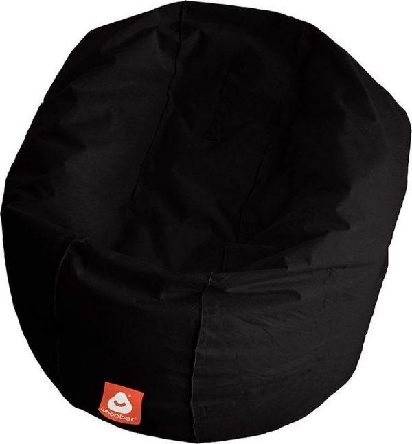 Whoober Ronde Zitzak Ibiza L outdoor zwart - Wasbaar - Geschikt voor buiten