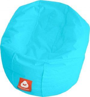 Whoober Ronde Zitzak Ibiza M outdoor aqua blauw - Wasbaar - Geschikt voor buiten