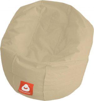 Whoober Ronde Zitzak Ibiza M outdoor beige - Wasbaar - Geschikt voor buiten