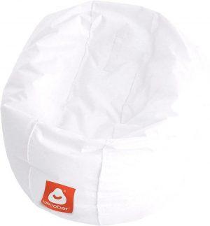 Whoober Ronde Zitzak Ibiza M outdoor wit - Wasbaar - Geschikt voor buiten