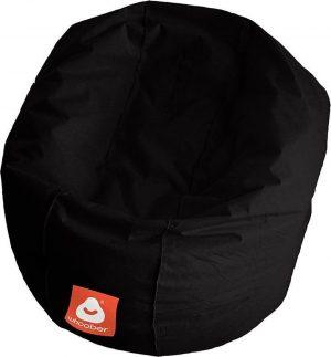 Whoober Ronde Zitzak Ibiza M outdoor zwart - Wasbaar - Geschikt voor buiten