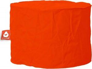 Whoober Zitzak poef Rhodos outdoor donker oranje - Wasbaar - Geschikt voor buiten
