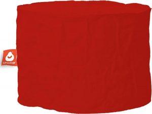 Whoober Zitzak poef Rhodos outdoor rood - Wasbaar - Geschikt voor buiten