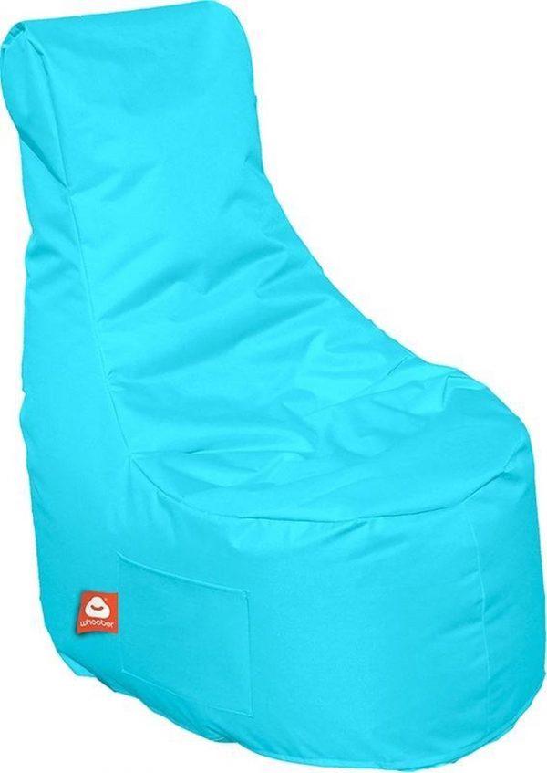 Whoober Zitzak stoel Nice outdoor aqua blauw - Wasbaar - Geschikt voor buiten
