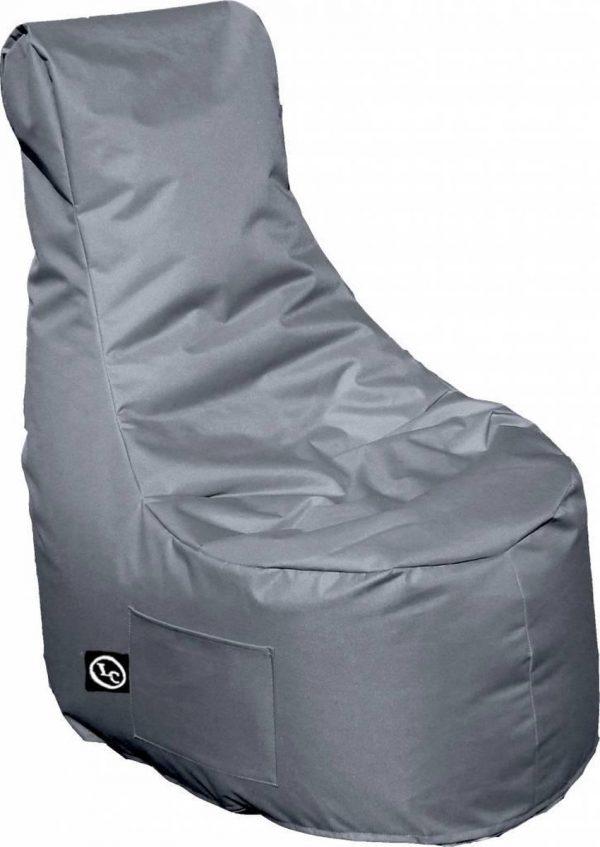 Whoober Zitzak stoel Nice outdoor grijs - Wasbaar - Geschikt voor buiten