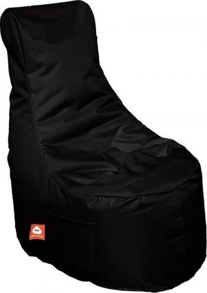 Whoober Zitzak stoel Nice outdoor zwart - Wasbaar - Geschikt voor buiten