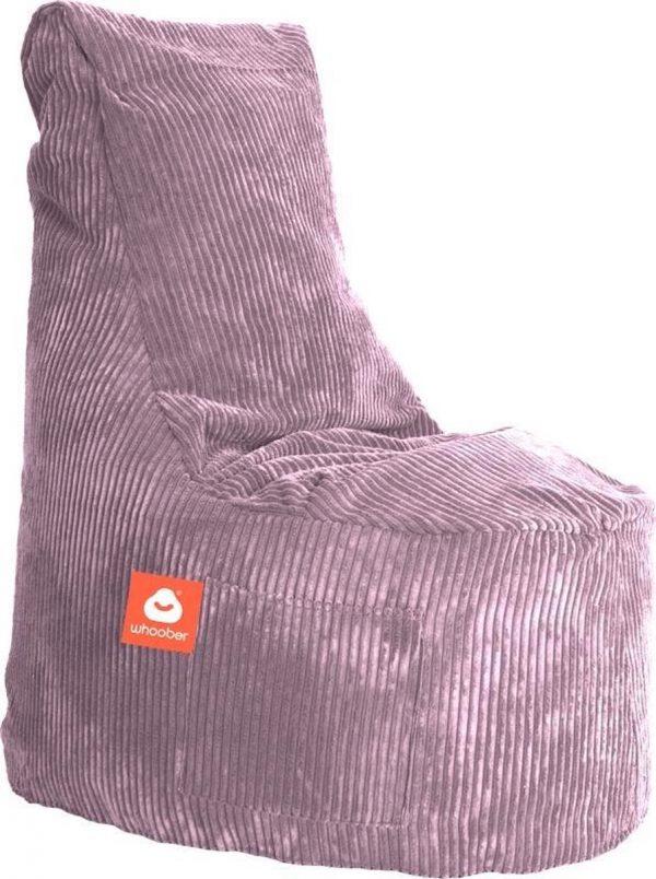 Whoober Zitzak stoel Nice ribcord paars - Wasbaar - Zacht en comfortabel