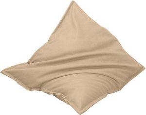 Drop & Sit Leatherlook Zitzak -Beige - 130 x 150 cm - Voor binnen en buiten