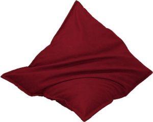 Drop & Sit Leatherlook Zitzak - Donkerrood - 130 x 150 cm - Voor binnen en buiten