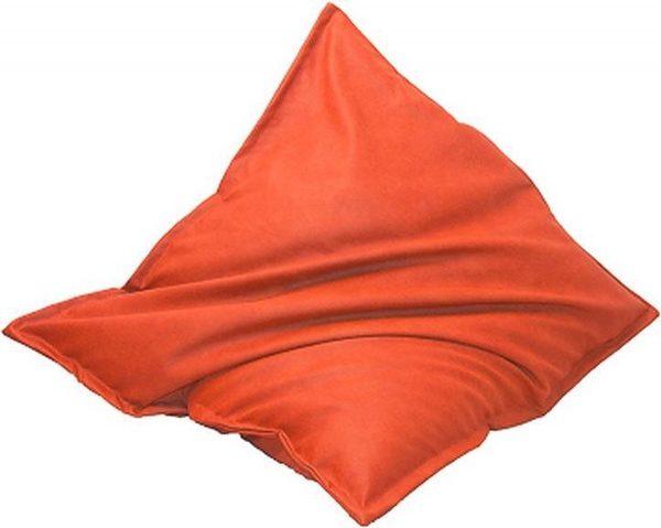 Drop & Sit Leatherlook Zitzak - Oranje - 100 x 150 cm - Voor binnen en buiten