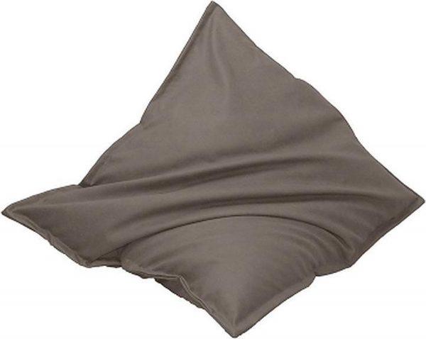 Drop & Sit Leatherlook Zitzak - Taupe - 100 x 150 cm - Voor binnen en buiten