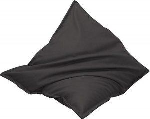 Drop & Sit Leatherlook Zitzak - Zwart - 115 x 150 cm - Voor binnen en buiten
