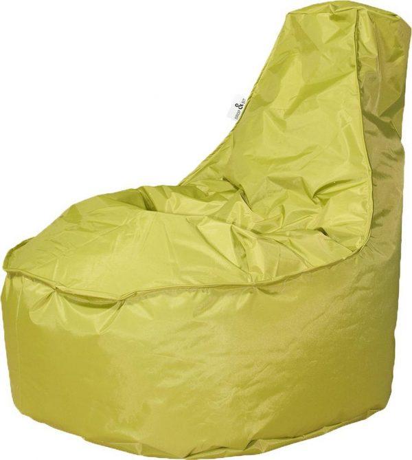 Drop & Sit zitzak Stoel Noa Junior - Lime groen - 100 liter