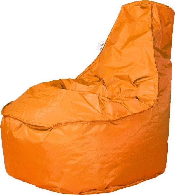 Drop & Sit zitzak Stoel Noa Junior - Oranje (100 liter)