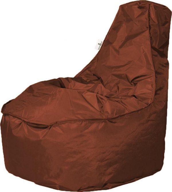 Drop & Sit zitzak Stoel Noa Large - Bruin (320 liter)