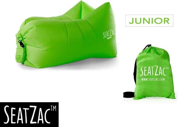 Junior Zitzak - Seatzac - Junior - Groen - 50 x 95 x 40 cm - Vulbaar met lucht - Camping - Strand - Tuin - Kids