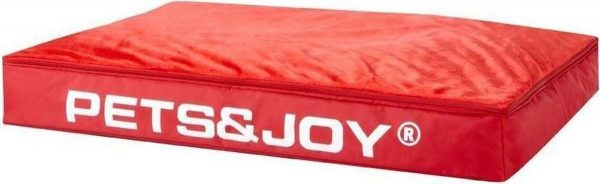Pets & Joy Hondenkussen Dog Bed - L - 80 x 120 cm - Rood