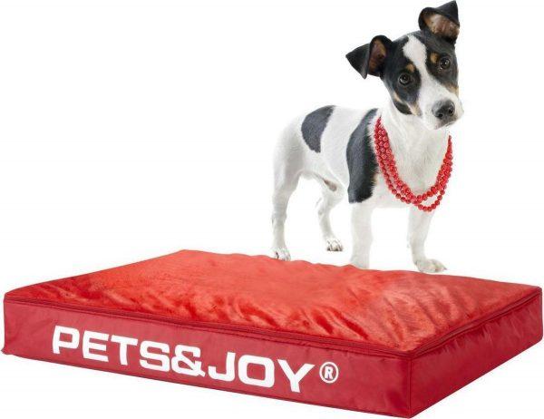 Pets & Joy Hondenkussen Dog Bed M 60 x 80 cm - Rood