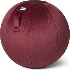 VLUV BOL VARM zitbal Bordeaux Rood - 60-65cm