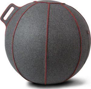 Vluv VELT zitbal Grijs-Melange/Rood 65cm