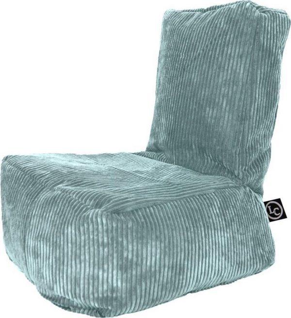 Whoober Kinder-zitzak Fiji ribcord aqua blauw - Wasbaar - Zacht en comfortabel