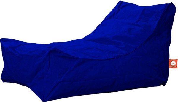 Whoober Lounge stoel zitzak Bali outdoor kobalt blauw - Wasbaar - Geschikt voor buiten