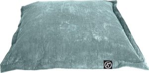 Whoober Rechthoek zitzak St. Tropez M ribcord aqua blauw - Wasbaar - Zacht en comfortabel