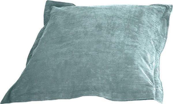 Whoober Rechthoek zitzak St. Tropez XL ribcord aqua blauw - Wasbaar - Zacht en comfortabel