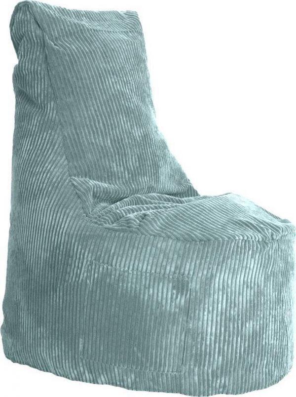Whoober Zitzak stoel Nice ribcord aqua blauw - Wasbaar - Zacht en comfortabel