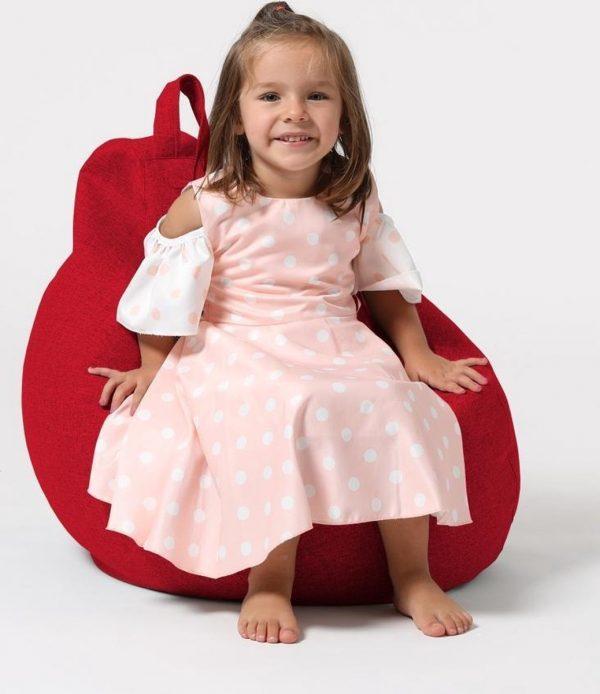 Xoft Living Pear Kids Linnen Zitzak - Rood