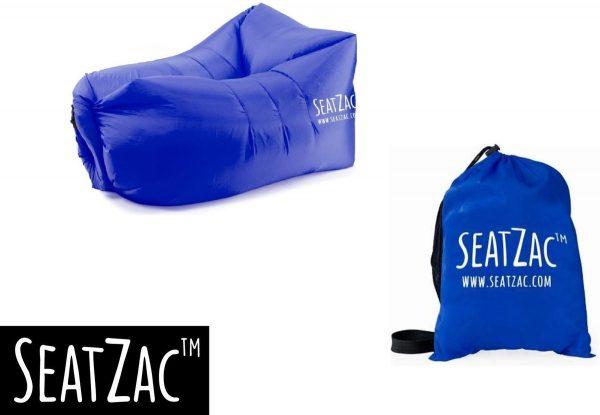 Zitzak- Seatzac - Donkerblauw - 110 x 80 x 70 cm - Vulbaar met lucht - Camping - Strand - Tuin