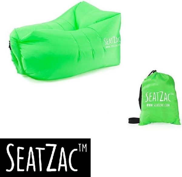 Zitzak- Seatzac - Groen - Wild Green - 110 x 80 x 70 cm - Vulbaar met lucht - Camping - Strand - Tuin