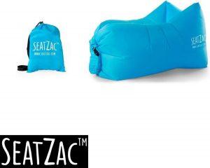 Zitzak- Seatzac - Lichtblauw - Skyblue - 110 x 80 x 70 cm - Vulbaar met lucht - Camping - Strand - Tuin