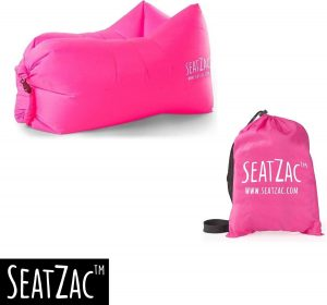 Zitzak- Seatzac - Roze - Pink Candy - 110 x 80 x 70 cm - Vulbaar met lucht - Camping - Strand - Tuin - Chillbag