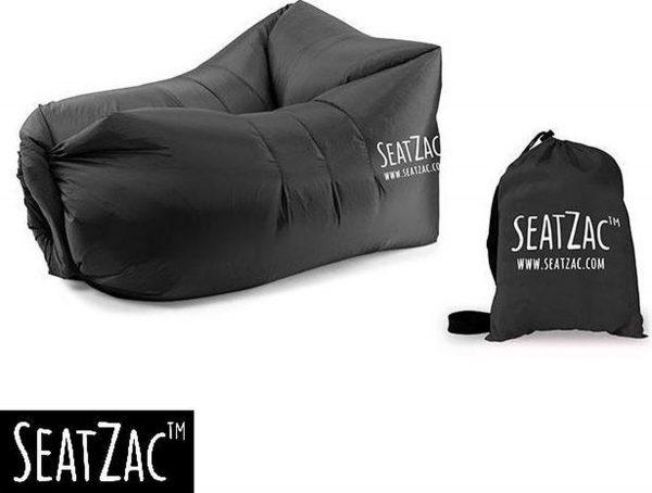 Zitzak- Seatzac - Zwart - Classic Black - 110 x 80 x 70 cm - Vulbaar met lucht - Camping - Strand - Tuin