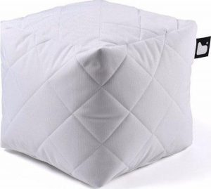 Extreme lounging B-Box Quilted Poef - Wit