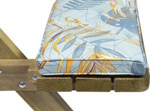 MaximaVida picknicktafel kussenpakket Dotan 120 x 27,5 x 5 cm - 2 stuks - waterafstotend