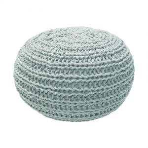 Overseas Poef Natural Knitted Ice 30 x 50 cm
