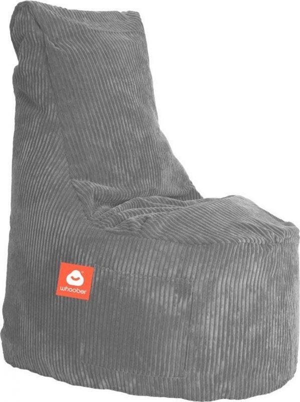 Whoober Zitzak stoel Nice ribcord grijs - Wasbaar - Zacht en comfortabel