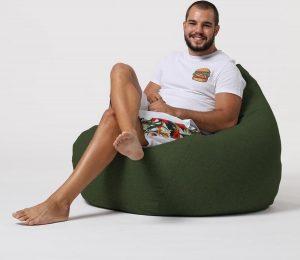 Xoft Living Pear XL Linnen Zitzak - Groen