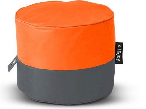 Sit&Joy - Rondo - Oranje - Poef/Zitzak