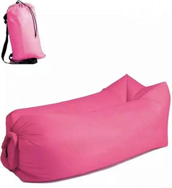 Air lounger Pink   Lucht zak   opblasbare zitzak    XL   Ligzak   seatzac   Chillbag