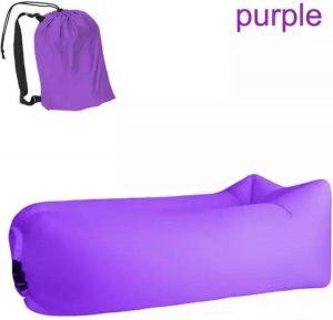 Air lounger paars || Lucht zak|| opblasbare zitzak || XL|| Ligzak|| seatzac|| Chillbag