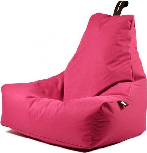 Extreme Lounging b-bag - Luxe zitzak - Indoor en outdoor - Waterafstotend - 95 x 95 x 90 cm - Polyester - Roze