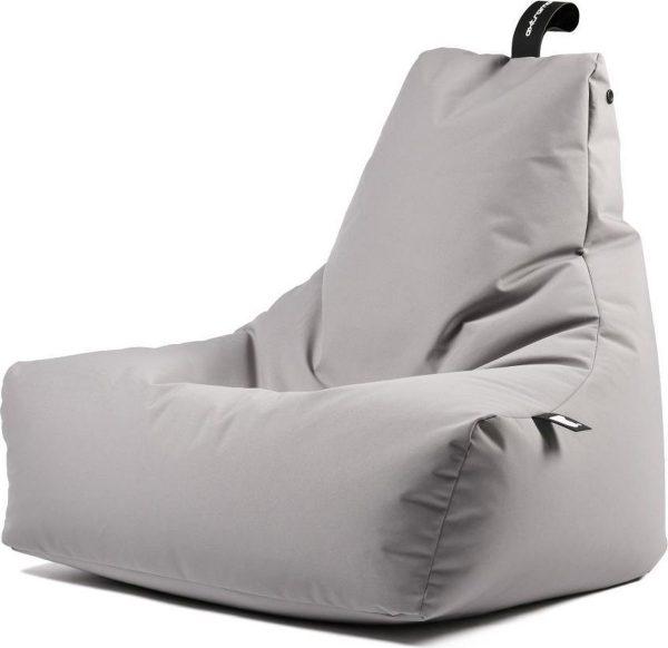 Extreme Lounging b-bag - Luxe zitzak - Indoor en outdoor - Waterafstotend - 95 x 95 x 90 cm - Polyester - Silver Grey