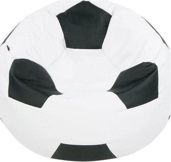 Loungiez Zitbal Voetbal Groot - Zwart-Wit