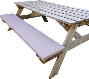 LuLu- 1 Kussen Picknicktafel 180 x 30 cm |Taupe, beige | Waterafstotend