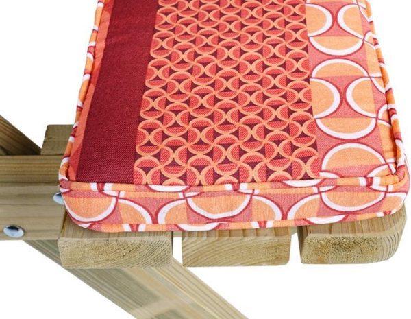 MaximaVida picknicktafel kussenpakket Terra 180 x 27,5 x 5 cm - 2 stuks